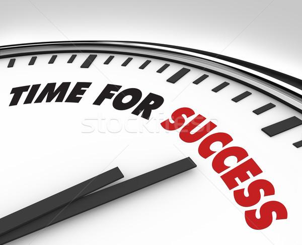 Stok fotoğraf: Zaman · başarı · saat · başarı · beyaz