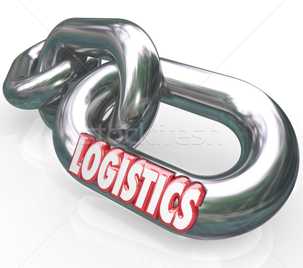 Logistics Word on Chain Links Connected System Stock photo © iqoncept