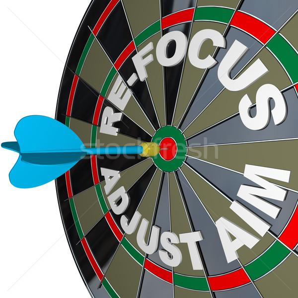 Refocus Adjust Aim Dartboard Improve Success Stock photo © iqoncept