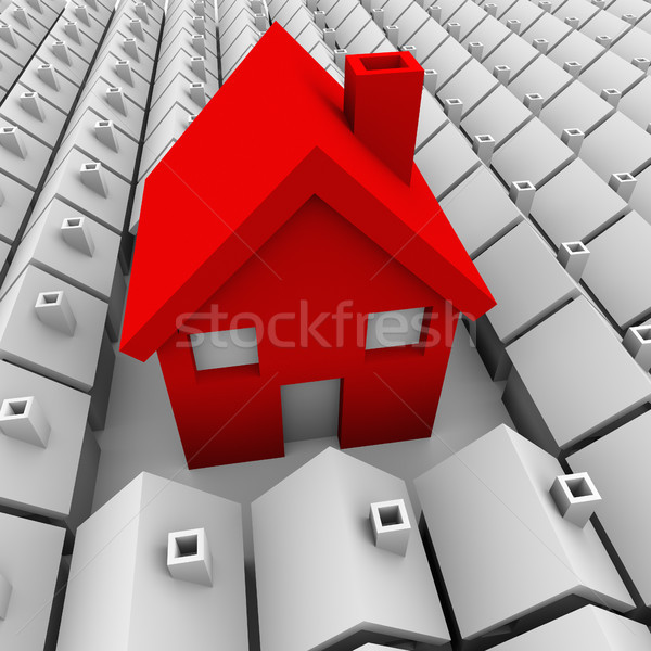Stock photo: One Big House Many Small Houses Biggest Choice