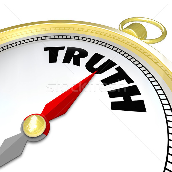 Stock photo: Truth Word Compass Conscience Lead to Honesty Sincerity
