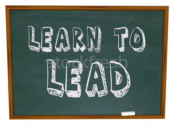 Learn to Lead - Chalkboard Stock photo © iqoncept