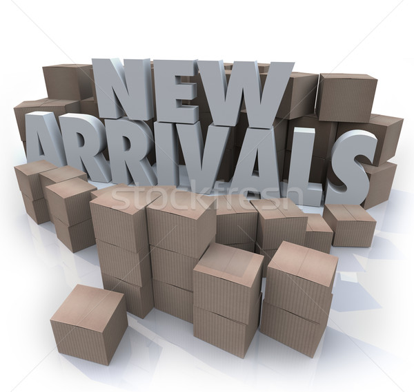 New Arrivals Cardboard Boxes Items Merchandise Products Stock photo © iqoncept