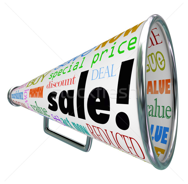 Sale Bullhorn Megaphone Advertising Special Price Event Stock photo © iqoncept