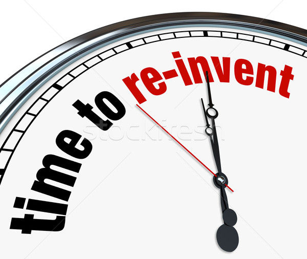 Time to Re-Invent - Clock Stock photo © iqoncept