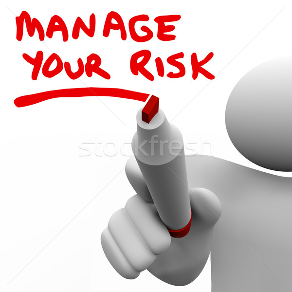 Manage Your Risk Manager Writing Words Marker Stock photo © iqoncept