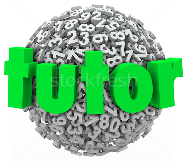 Tutor Number Ball Sphere Education Private Lesson Learning Stock photo © iqoncept