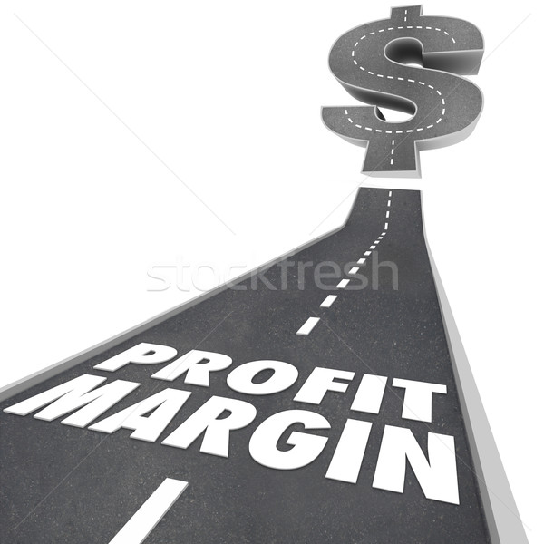 Stock photo: Profit Margin Road Going Up Increasing Earnings Net Income Money