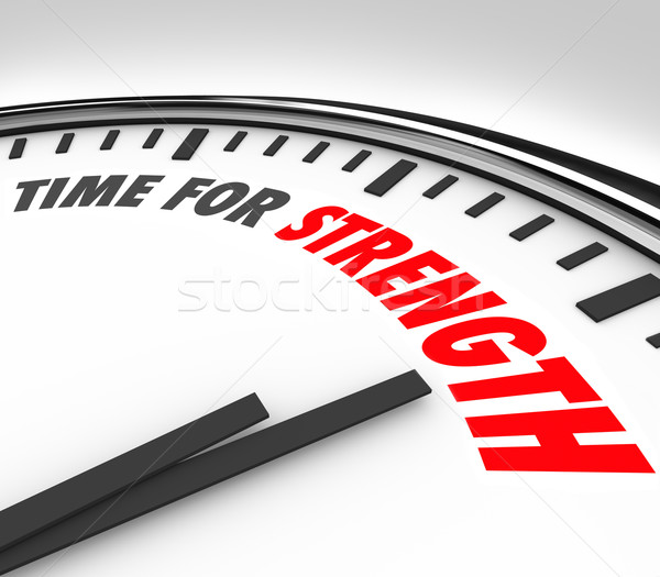 TIme for Strength Clock Deadline Strong Skills Ability Advantage Stock photo © iqoncept