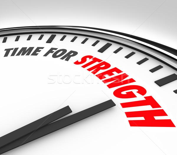 Zeit Stärke Uhr Einsendeschluss starken Fähigkeiten Stock foto © iqoncept