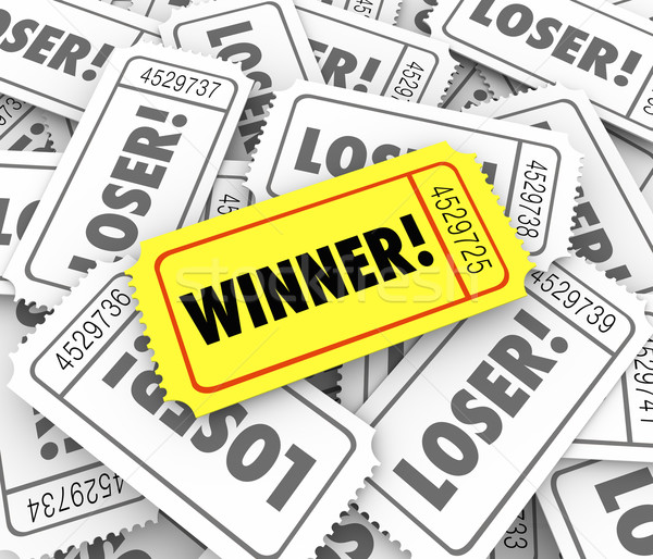 Winner Golden Ticket Lucky Odds Winning Lottery Jackpot Drawing  Stock photo © iqoncept