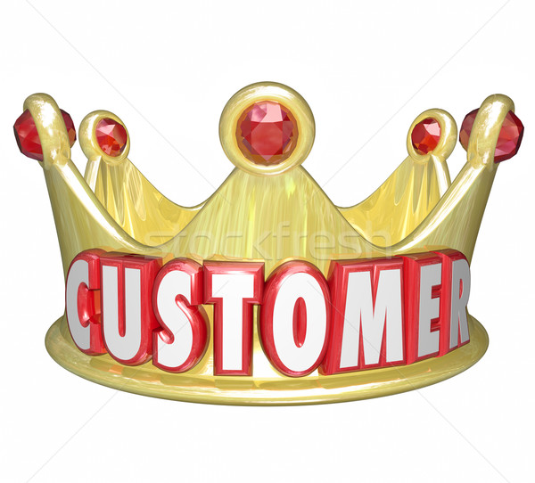 Customer Gold Crown Top Priority King VIP Treatment Stock photo © iqoncept