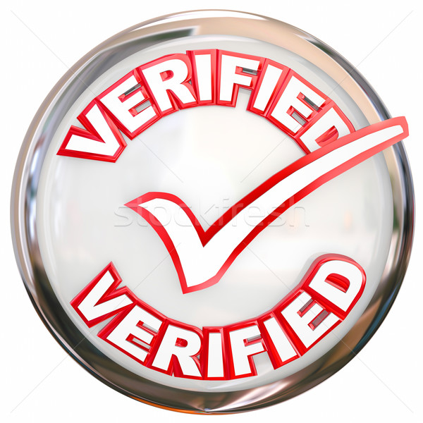Verified Stamp Button Check Mark Inspected Certified Stock photo © iqoncept