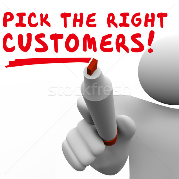Pick the Right Customers Target Market Best Potential Audience Stock photo © iqoncept