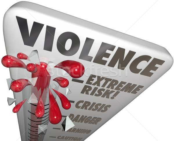 Violence Risk Measure Level Extreme Danger Warning Caution Stock photo © iqoncept
