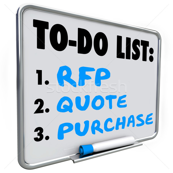 Request for Proposal RFP Quote Purchase To Do List Dry Erase Boa Stock photo © iqoncept