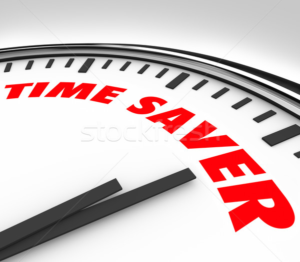 Time Saver Clock Words Efficient Productive Work Advice Stock photo © iqoncept