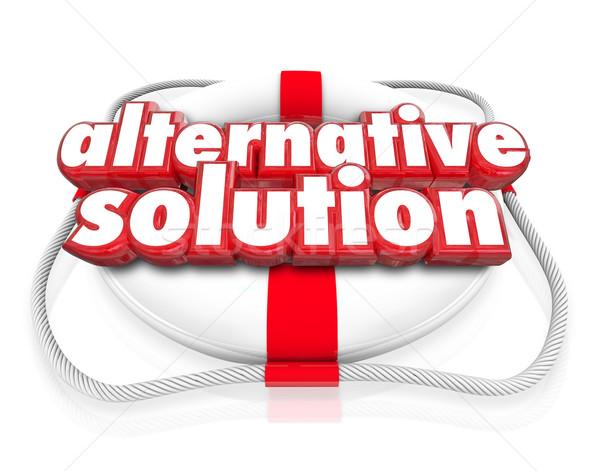 Alternative Solution Words Life Preserver Different Idea Option  Stock photo © iqoncept