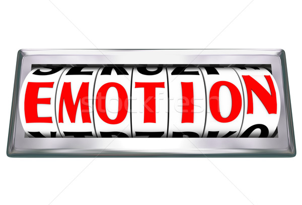 Emotion Word Guage Letters Odometer Measure Response Feelings Re Stock photo © iqoncept