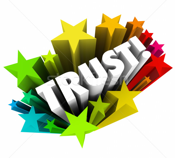 доверия звезды веры вера слово 3D Сток-фото © iqoncept