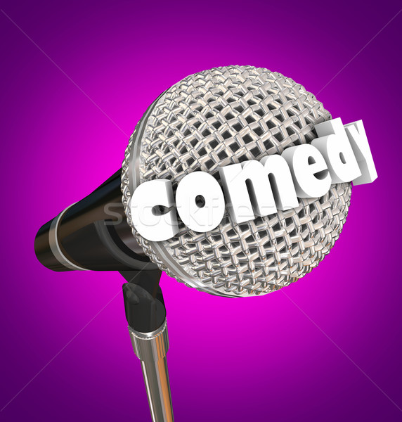 Comedy Stand Up Comic Performer Microphone Stock photo © iqoncept