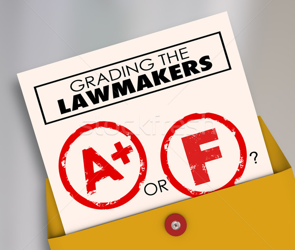 Stock photo: Grading the Lawmakers A or F Elected Officials