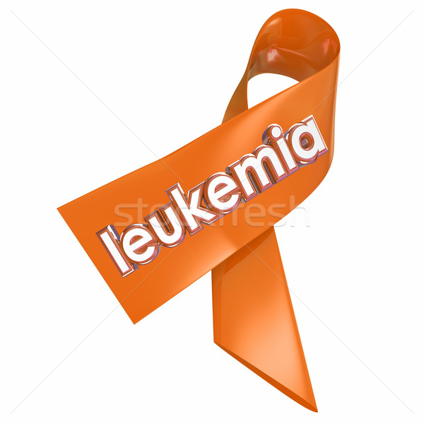 Leukemia Orange Ribbon Awareness Medical Research Fund Raiser Stock photo © iqoncept