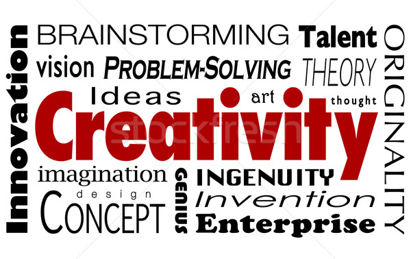 Creativity Word Collage Innovation Ideas Imagination Vision Stock photo © iqoncept