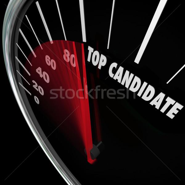 先頭 候補者 人気のある 選択 選挙 投票 ストックフォト © iqoncept