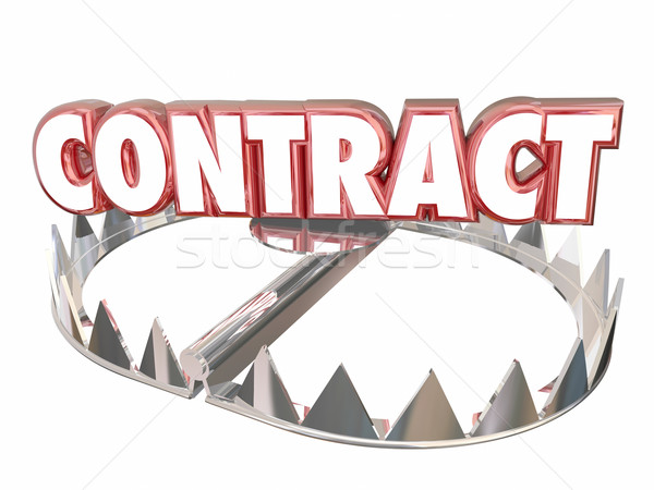 Contract Terms Conditions Bear Trap Danger Word 3d Stock photo © iqoncept