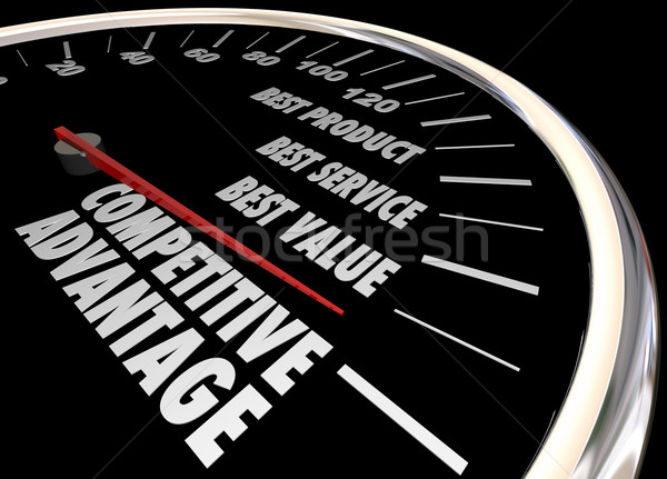 Competitive Advantage Better Product Price Service Speedometer 3 Stock photo © iqoncept