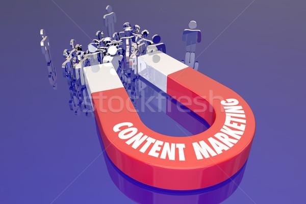 Content Marketing Digital Information Service Website Internet M Stock photo © iqoncept