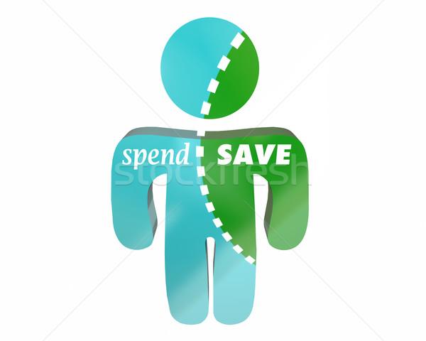 Vs zapisać ceny pieniężnych dochód Zdjęcia stock © iqoncept