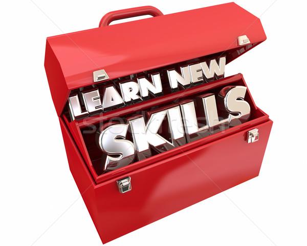 Aprender novo habilidades caixa de ferramentas educação treinamento Foto stock © iqoncept