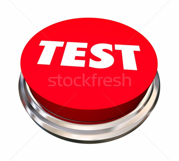 Test evaluatie knop 3d illustration Stockfoto © iqoncept