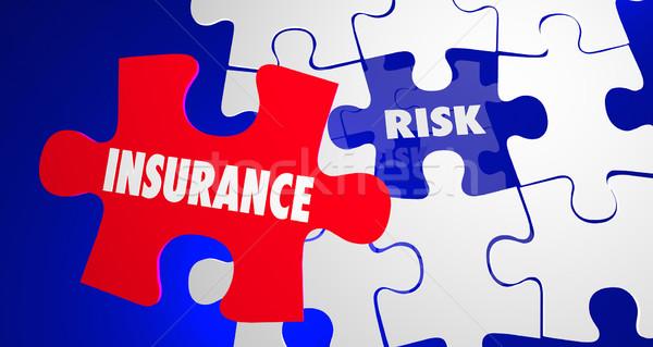 Biztosítás vs kockázat biztonság biztonság béke Stock fotó © iqoncept
