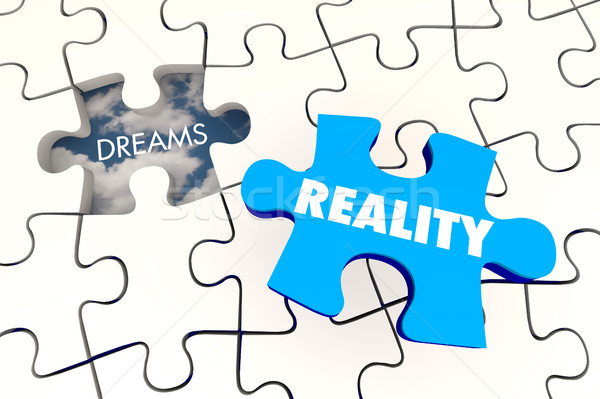Dreams Become Reality Puzzle Piece Final 3d Illustration Stock photo © iqoncept