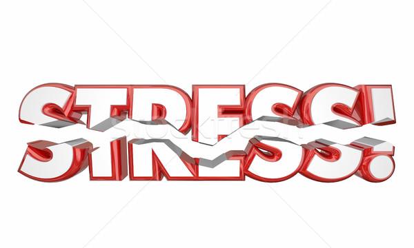 Stressz szó rándulás szellemi érzelmes 3d illusztráció Stock fotó © iqoncept