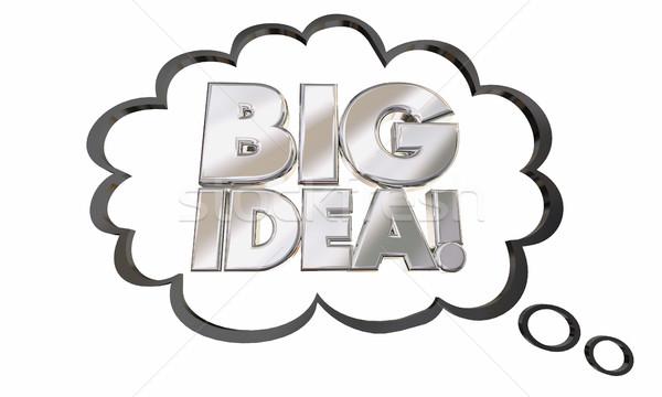 Big Idea Thought Cloud Concept Words 3d Illustration Stock photo © iqoncept