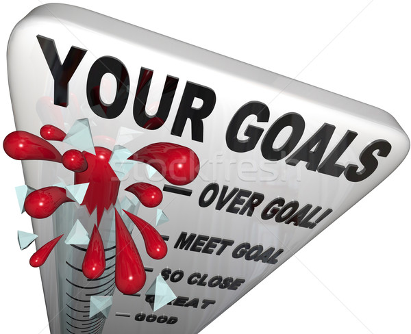 Your Goals Met and Surpassed - Thermometer Measurement Stock photo © iqoncept