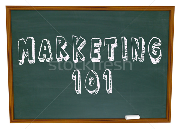 Marketing 101 Words on Chalkboard Basics Stock photo © iqoncept