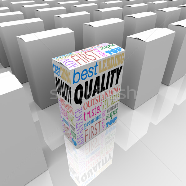 Quality Box Stands Out Best Product Among Many Competitors Stock photo © iqoncept