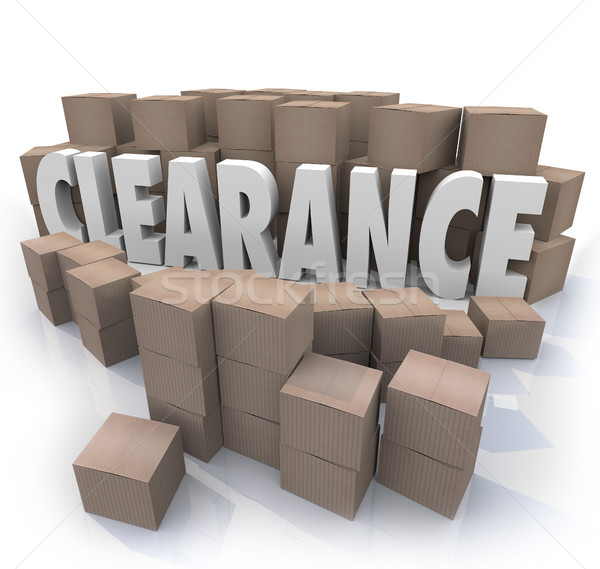 Clearance Sale Inventory Boxes Stockroom Stock photo © iqoncept