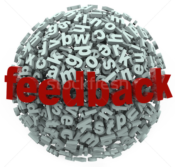 Feedback 3D Sphere Letters Input Comments Stock photo © iqoncept