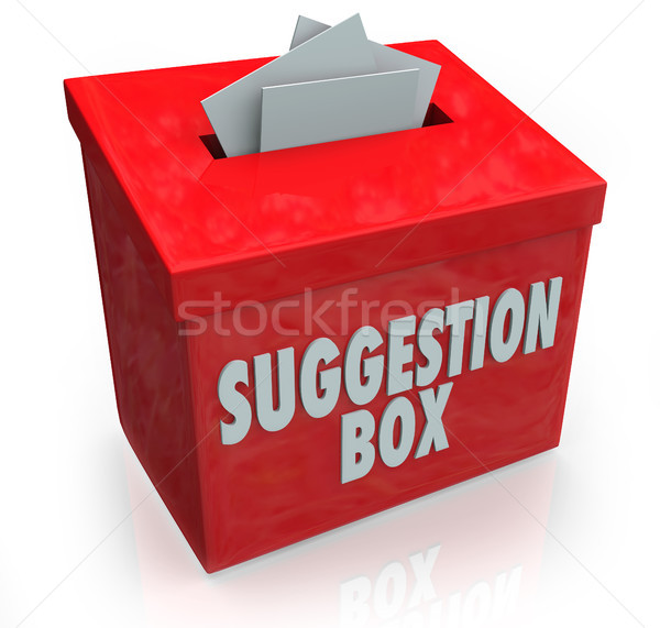 Suggestion Box Ideas Submission Comments Stock photo © iqoncept