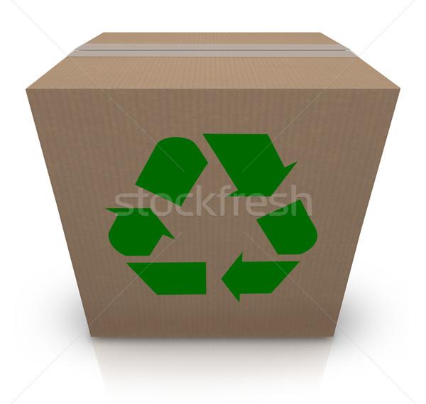 Recycle Symbol Cardboard Box Earth Friendly Environmental Shippi Stock photo © iqoncept