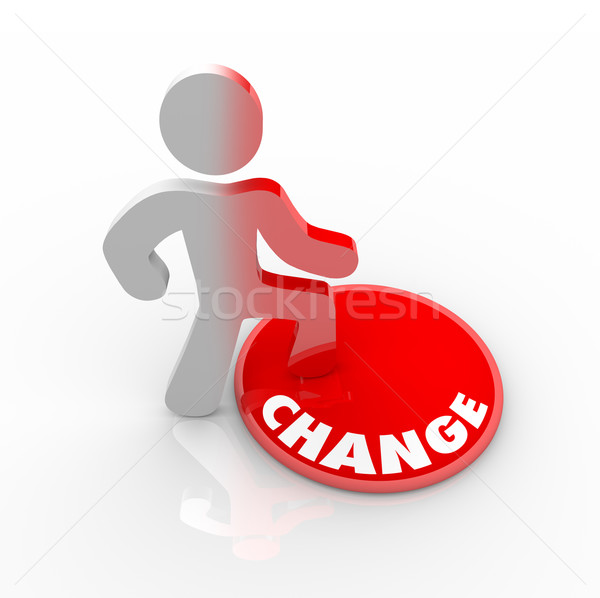 Person Stepping Onto Change Button Stock photo © iqoncept