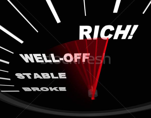 Speedometer with Neelde on Rich Stock photo © iqoncept