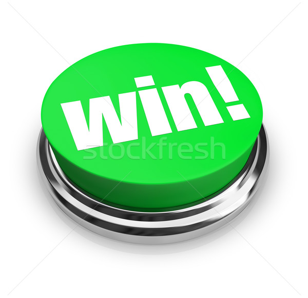 Win - Green Button Stock photo © iqoncept