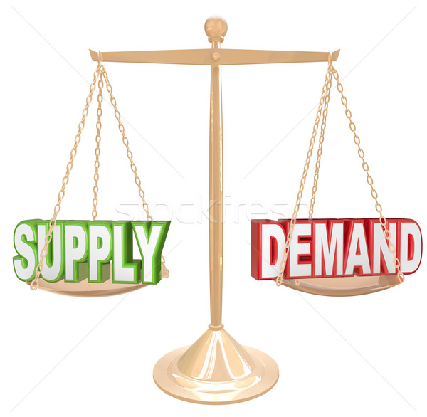 Supply and Demand Balance Scale Economics Principles Law Stock photo © iqoncept